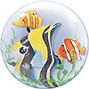 """Seaweed Tropical Fish, Double Bubble balloon, 24"""" by RAINBOW BALLOONS"""