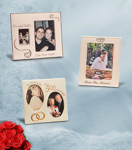 RUSS® White Lace and Promises Wedding Frames by RUSS BERRIE