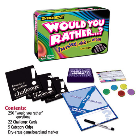 Toydirectory Zobmondo Would You Rather Boardgame The Twisted