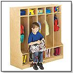 Coat Locker With Step (5 Sections) & Individual Locker mats by JONTI-CRAFT INC.