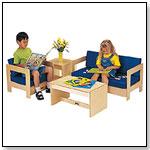 Blue Living Room Set (4 pc) by JONTI-CRAFT INC.