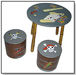 It's a Pirate's Life - Round Table with Storage Stools by LC CREATIONS