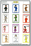 Multicultural Color Cards by ALL 4 KIDZ ENTERPRISES