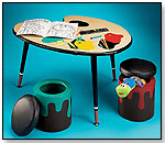 Paint Table With Stools by LUMISOURCE, INC.