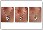 Sterling Silver Hebrew Letter & Chain by SARAH AND DAVID INTERACTIVE