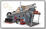 Kids Crooked House - Junkyard/Gas Station Playhouse by KIDS CROOKED HOUSE