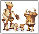Wooden Robots by TAKE-G TOYS