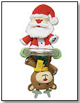 Double Rattle Santa/Reindeer by STEPHAN BABY