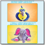 Zoco the Parrot™ and Muga the Elephant™ by SMALL WORLD TOYS