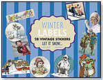 Winter Labels - 28 Vintage Stickers by LAUGHING ELEPHANT