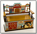 Wild West Bench Seat With Storage by LEVELS OF DISCOVERY