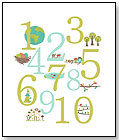 Nature Themed Number Poster by CHILDREN INSPIRE DESIGN