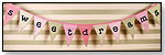 Sweet Dreams Flag Banner - Pink and Green by NEW ARRIVALS INC.