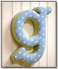 """Fabric Letter - Blue and Green """"G"""" by NEW ARRIVALS INC."""