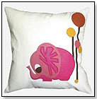 Elephant in Desert Throw Pillow by DECAF PLUSH