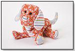 Orange Mini Quilti Dog by DOUGLAS CUDDLE TOYS