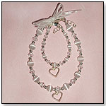 "Mom & Me Bracelet Set - ""Hearts Entwined Forever"" - White by CHERISHED MOMENTS"