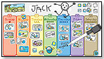 """My Week"" Magnetic Wipe-Off Calendar for Young Children by 2FISH KIDS"