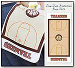 Organic Cotton Burp Cloth - Slam Dunk Basketball by TEAMEES