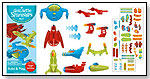Galactic Spaceships Kit - Quick Sticker Project by PEACEABLE KINGDOM