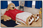Duke the Floppy Eared Dog, Plush Bed Frame by THE INCREDIBEDS LLC