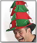 Striped Christmas Tree Hat by BZANY LLC