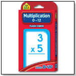 Multiplication Flash Cards by SCHOOL ZONE PUBLISHING CO