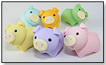 Iwako Pig Eraser in Six Colors by BC INDUSTRIES