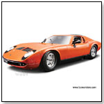 BBurago Gold - 1968 Lamborghini Miura Hard Top 1:18 scale diecast collectible model car by TOY WONDERS INC.