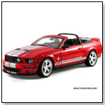 Shelby - 2007 Ford Shelby GT500 40th Anniversary Convertible 1:18 scale diecast collectible model car by TOY WONDERS INC.