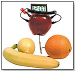 Fruit Powered Clock by SCHYLLING