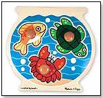 Wooden Fishbowl Jumbo Knob Puzzle by MELISSA & DOUG