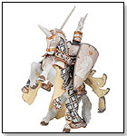 Papo Silver Weapon Master and Horse by HOTALING IMPORTS