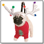 "Fuzzy Nation Oui-to-Me Holiday Pug ""Ant"" by MANHATTAN TOY"