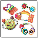 Butterfly Rattle and Teether Toy Gift Set by SASSY