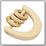 Natural Wood Ring Rattle by I play