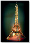 Eiffel Tower With Lights by EITECH AMERICA