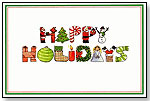 Happy Holidays Greeting Card by GOOD BUDDY NOTES