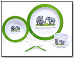 The New Yorker baby collection dish sets - Elephants by SILLY SOULS LLC