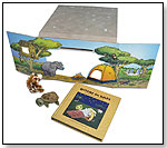 Bedtime on Safari Storybook and Puppet Theater Play Set by CLOUD B