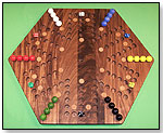 Wooden Marble Game Board - Aggravation by CHARLIE