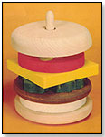 Wooden Hamburger Educational Stack Toy by CHARLIE