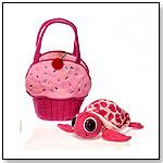 "8"" Fiestalicious Plush Turtle In A Plush Cupcake Tote by FIESTA"