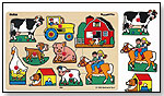 Ryan's Room Wooden Peg Puzzle - Farm by SMALL WORLD TOYS