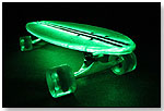 Flexdex Clear29 LT Green Lighted Skateboard by FLEXDEX SKATEBOARDS LLC