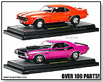 Castline M2 Machines Detroit-Muscle - 1969 Chevy Camaro Z/28 RS Hard Top & 1970 Dodge Challenger T/A 1:24 scale die-cast collectible model cars</title by TOY WONDERS INC.