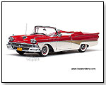 Sun Star Platinum - 1958 Ford Fairlane 500 Convertible 1:18 scale die-cast collectible model car by TOY WONDERS INC.