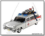 Mattel Hot Wheels Elite - Ghostbusters Ecto-1 Ambulance 1:18 Scale die-cast collectible metal car by TOY WONDERS INC.