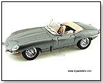 "BBurago Gold - 1961 Jaguar ""E"" Cabriolet Convertible 1:18 scale die-cast collectible model car by TOY WONDERS INC."