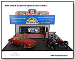 American Diorama Buildings - 1:18 scale (G scale) Burger Stand Diorama w/ Two Chef Figures by TOY WONDERS INC.